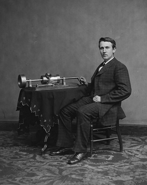Edison with a Phonograph